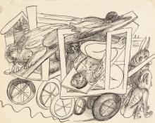 Max Beckmann, Il trasporto delle Sfingi