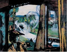 Max Beckmann,  In treno (Francia settentrionale) | Im Zug (Nordfrankreich) | On the train (Northern France)