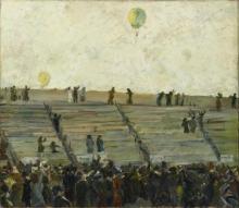 Max Beckmann, L'ascesa delle mongolfiere alla Gordon Bennet Rennen | Aufstieg der Ballons beim Gordon-Bennett-Rennen