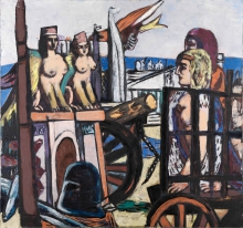 Max Beckmann, L'asportazione delle sfingi | Der Abtransport der Sphinxe | The removal of the sphinxes