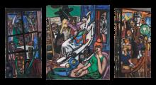 Max Beckmann, L'inizio (Trittico) | Der Anfang (Triptychon) | The beginning (Triptych)