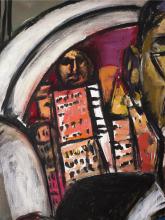 Max Beckmann, La città (Notte in città) [dettaglio]