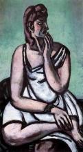 Max Beckmann, La donna spaventata | Die Erschrockene Frau | The frightened woman
