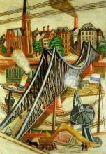 Max Beckmann, La passerella di ferro | Der Eiserne Steg | The iron footbridge
