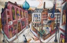 Max Beckmann, La sinagoga di Francoforte sul Meno | Die Synagoge in Frankfurt am Main | The Synagogue in Frankfurt am Main