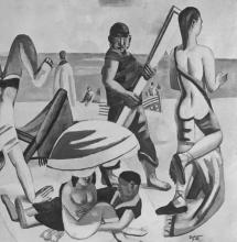 Max Beckmann, La spiaggia | Der Strand | The beach [dettaglio/detail]