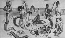 Max Beckmann, La spiaggia | Der Strand | The beach