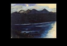 Max Beckmann, Lago al chiaro di luna | See bei Mondschein | Lake in the moonlight