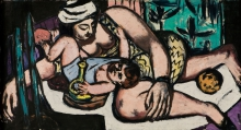 Max Beckmann, Madre con bambino che gioca | Mutter mit spielendem Kind
