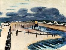 Max Beckmann, Mare del Nord in burrasca (Wangerooge) | Stürmische Nordsee (Wangerooge)