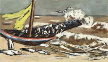 Max Beckmann, Mare marrone con gabbiani   Braunes Meer mit Möwen