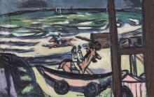 Max Beckmann, Marina a Noordwijk (Cavaliere sulla spiaggia)