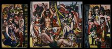 Max Beckmann, Mosca cieca (Trittico) | Blindekuh (Triptychon) | Blind Man's Buff (Triptych)