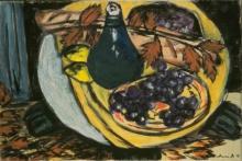 Max Beckmann, Natura morta autunnale con uva | Herbststillleben mit Weintrauben
