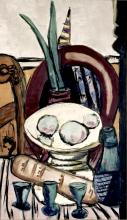 Max Beckmann, Natura morta con bicchieri verdi | Stilleben mit grünen Gläsern