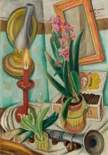 Max Beckmann, Natura morta con candela accesa | Stillleben mit brennender Kerze