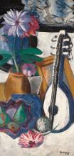 Max Beckmann, Natura morta con dalie viola | Stillleben mit violetten Dahlien | Still life with purple dahlias