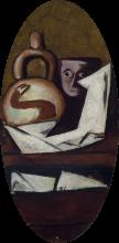Max Beckmann, Natura morta con figura messicana | Still-life (with Mexican figure)