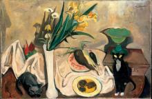 Max Beckmann, Natura morta con gatti | Stillleben mit Katzen | Still life with cats
