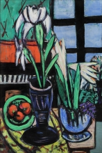 Max Beckmann, Natura morta con gigli   Still-life with lilies