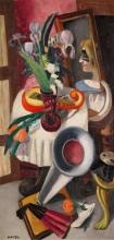 Max Beckmann, Natura morta con grammofono e iris   Stillleben mit Grammophon und Schwertillien   Still life with gramophone and irises