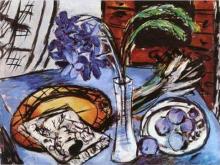 Max Beckmann, Natura morta con orchidee blu | Stillleben mit blauen Orchideen | Still life with blue orchids