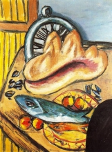 Max Beckmann, Natura morta con pesce e conchiglia | Stillleben mit Fisch und Muschel | Still life with fish and shell