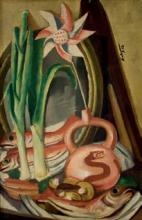 Max Beckmann, Natura morta con pesci e fiore di carta   Stilleben mit Fischen und Papierblume