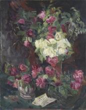 Max Beckmann, Natura morta con rose | Stillleben mit Rosen [1914]