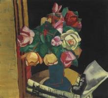 Max Beckmann, Natura morta con rose | Stillleben mit Rosen | Still life with roses [1927]