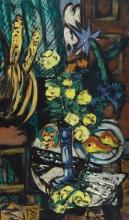 Max Beckmann, Natura morta con rose gialle | Stillleben mit gelben Rosen