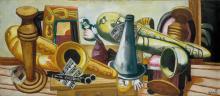 Max Beckmann, Natura morta con sassofoni