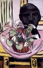 Max Beckmann, Natura morta con scultura | Stillleben mit Plastik | Still life with sculpture [1936]