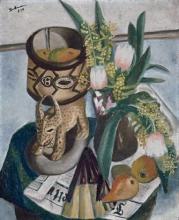Max Beckmann, Natura morta con scultura africana | Stillleben mit Afrikanischer Plastik | Still life with African sculpture