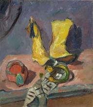 Max Beckmann, Natura morta con stivali gialli | Stillleben mit gelben Stiefeln