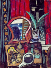 Max Beckmann, Natura morta con tavolo da toilette | Stillleben mit Toilettentisch