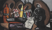 Max Beckmann, Natura morta con tavolozze | Stillleben mit Paletten