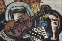 Max Beckmann, Natura morta con violino e flauto | Stillleben mit Geige und Flöte | Still life with violin and flute