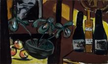 Max Beckmann, Natura morta in marrone e giallo | Still-life on brown and yellow