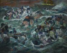 Max Beckmann, Naufragio del Titanic   Sinking of the Titanic