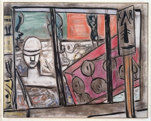 Max Beckmann, Negozio di occhiali | Brillenladen | Optician's window