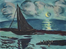 Max Beckmann, Notte di luna sul mare (verde) | Mondnacht am Meer (grün)