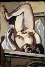 Max Beckmann, Nudo femminile con cane | Weiblicher Akt mit Hund