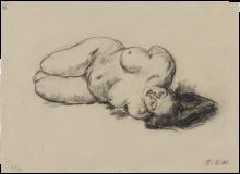 Max Beckmann, Nudo femminile sdraiato | Liegender weiblicher Akt
