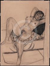 Max Beckmann, Nudo femminile sdraiato | Liegender weiblicher Akt | Reclining female nude