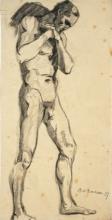 Max Beckmann, Nudo maschile in piedi | Stehender männlicher Akt