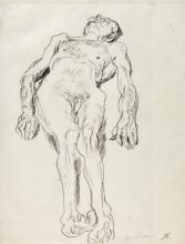 Max Beckmann, Nudo maschile sdraiato | Liegender männlicher Akt