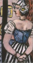 Max Beckmann, Olandese con la gonna a righe | Holländerin in gestreiftem Rock | Dutch woman with striped skirt