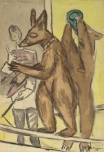 Max Beckmann, Orsi ammaestrati | Dressierte Bären
