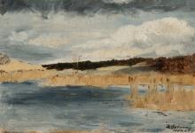 Max Beckmann, Paesaggio con lago   Landschaft mit See